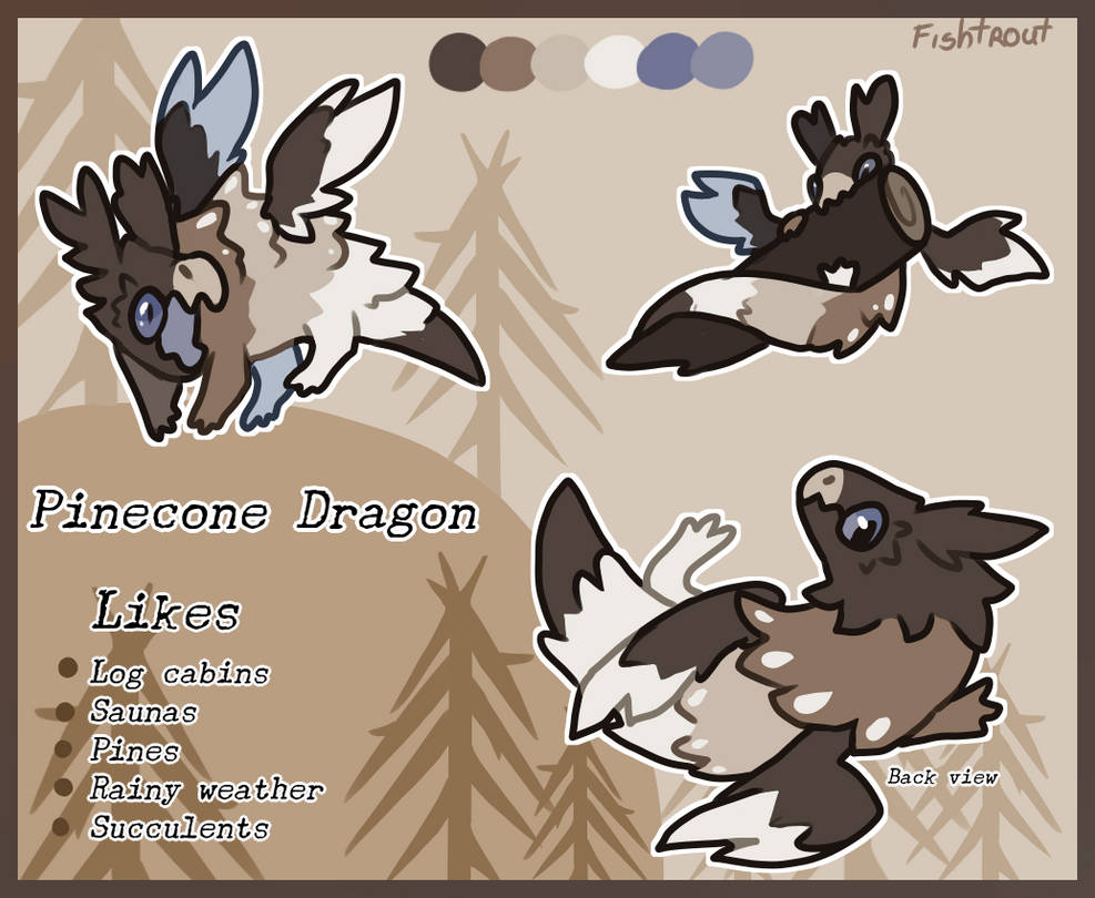 Pinecone Dragon Auction [CLOSED] by Fishtrout