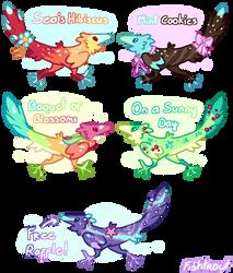 Raptors of Color Auction [CLOSED!] by Fishtrout