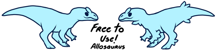 Free to Use Allosaurus Base! by Fishtrout