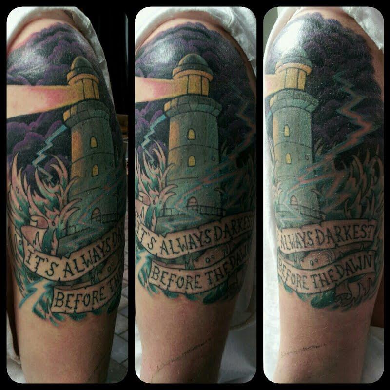 Lighthouse tattoo by artbykegan on deviantart for Tattoo shops in waco tx