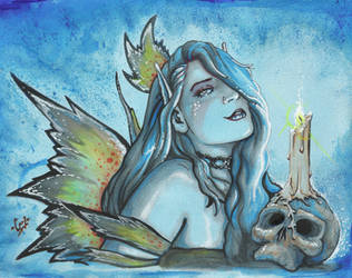 Candle Lit - 2008 - Mixed Media by carlgookins