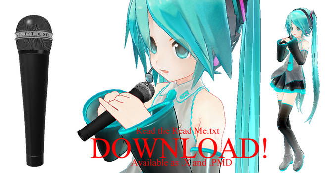 MMD Microphone - DOWNLOAD by Alelokk