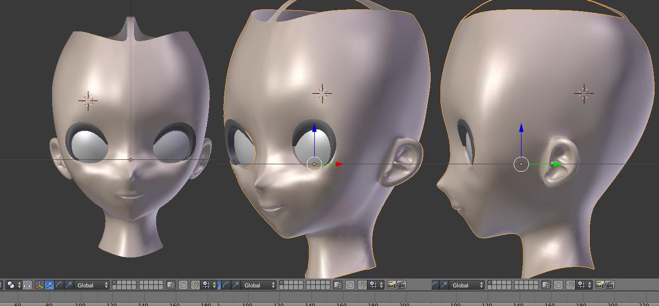 Practicing face modeling by Alelokk