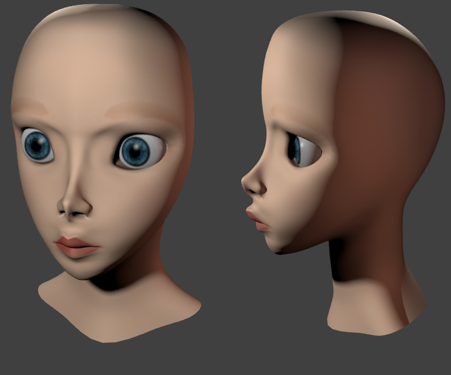 Practicing face modeling 2 by Alelokk