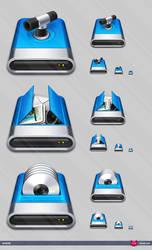 Hard drive icons by Shek0101