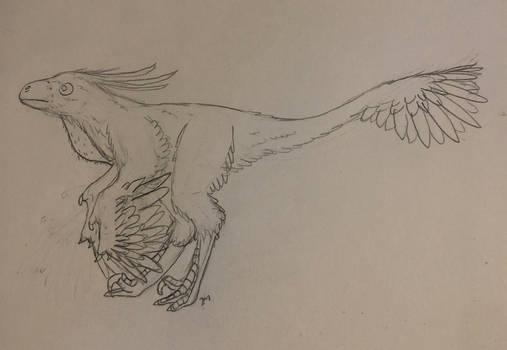 I was bored so I drew a velociraptor
