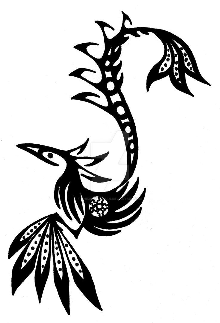Tribal Tat- Phoenix by THExNEKOxCHAN