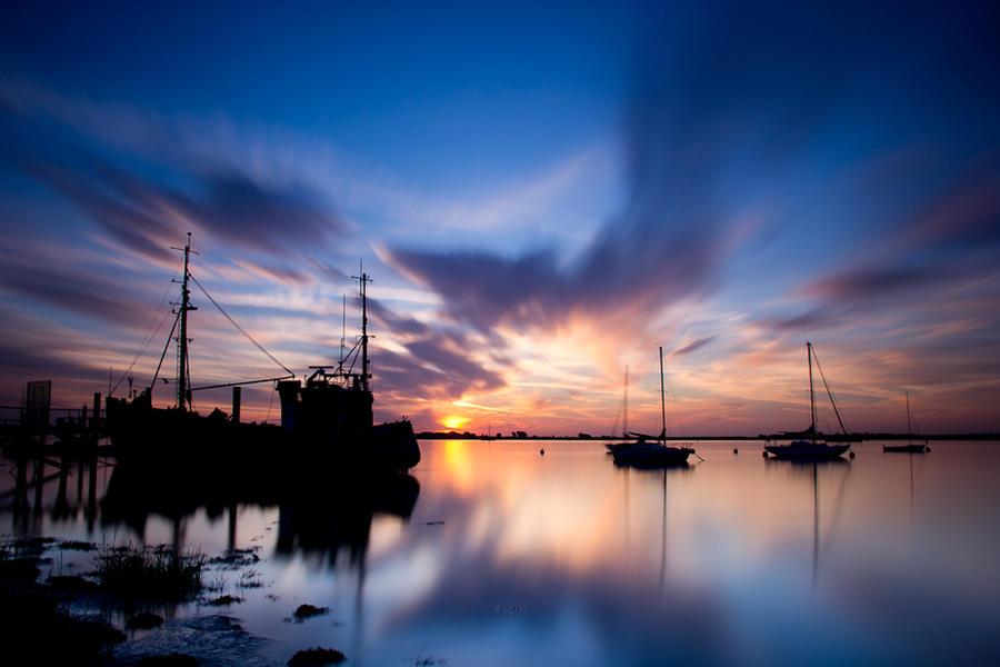 Heybridge Sunrise by adambrowning