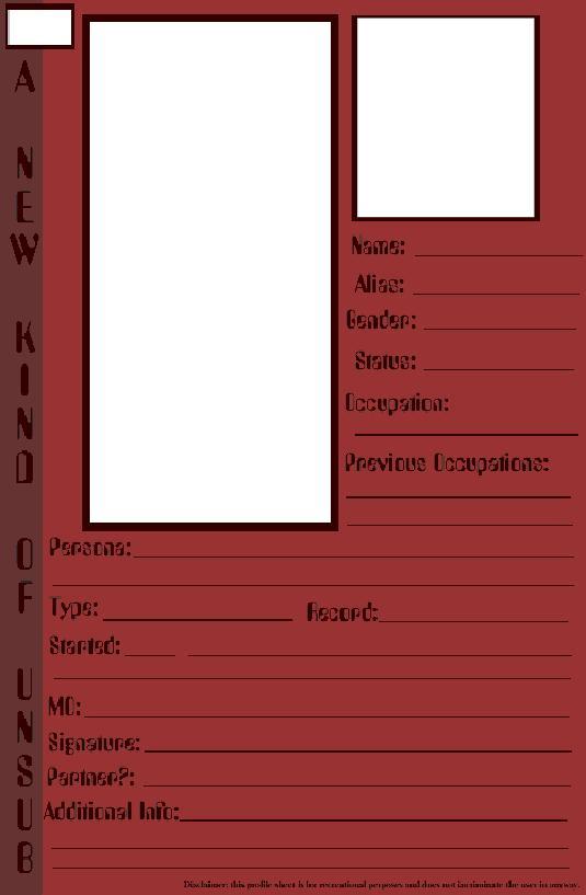 UnSub Profile Template By Ikineko