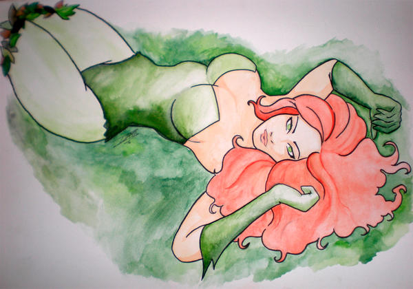 Poison Ivy Watercolor by Doudourock
