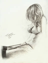 Girl Drawing by BiondoArt-dot-com