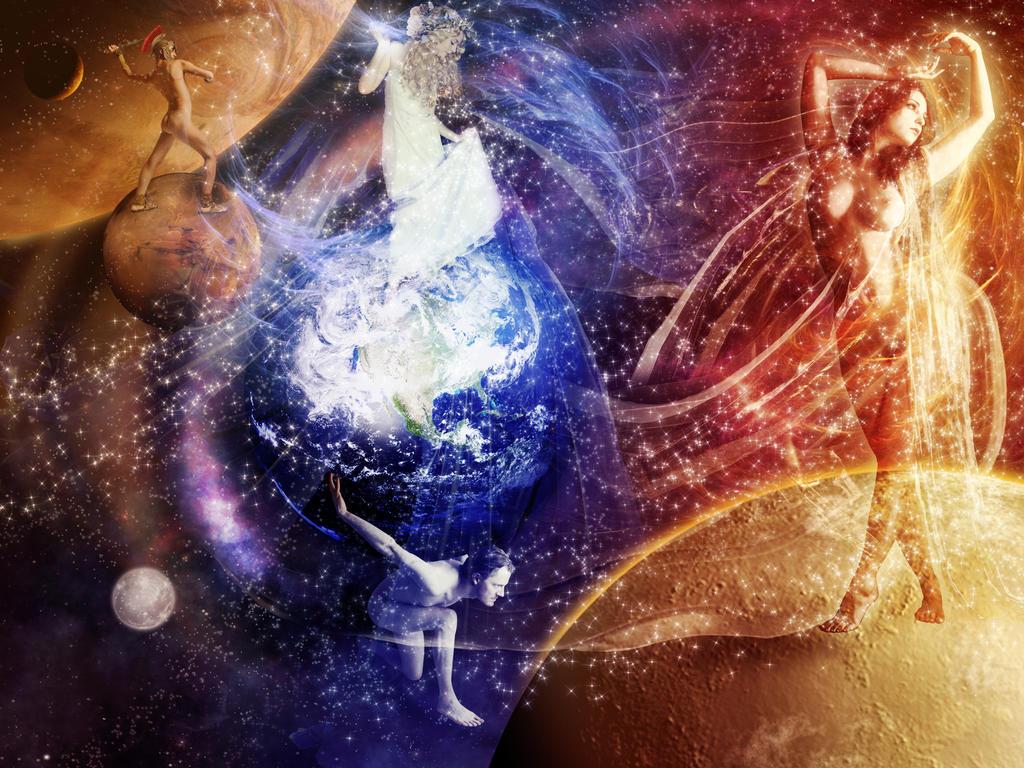 Galaxy gods by Scarletmcd