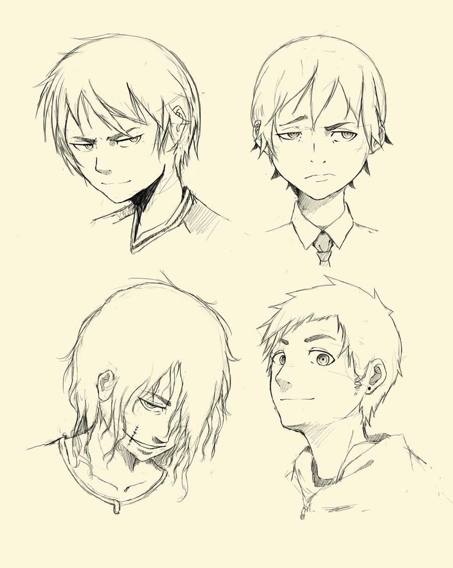 Manga Head Doodle Male By Ombobon On DeviantArt