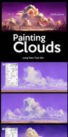 Painting Clouds in Paint Tool SAI