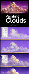 Painting Clouds in Paint Tool SAI by ombobon