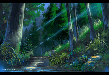 VN Anime Background Study 2 by ombobon