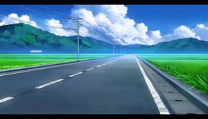 Anime Vn Background - Street