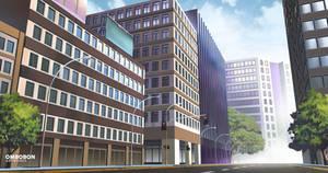 Anime VN Background - City