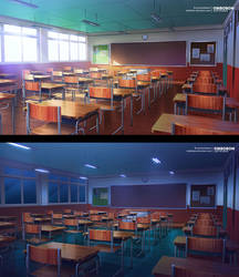 Commission Work - Classroom VN Background
