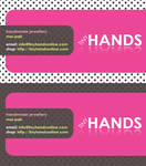 Tiny Hands Business Cards