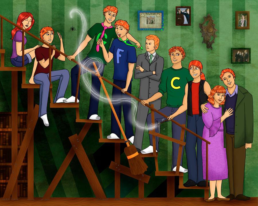 Weasley Family Portrait by Whisperwings on DeviantArt