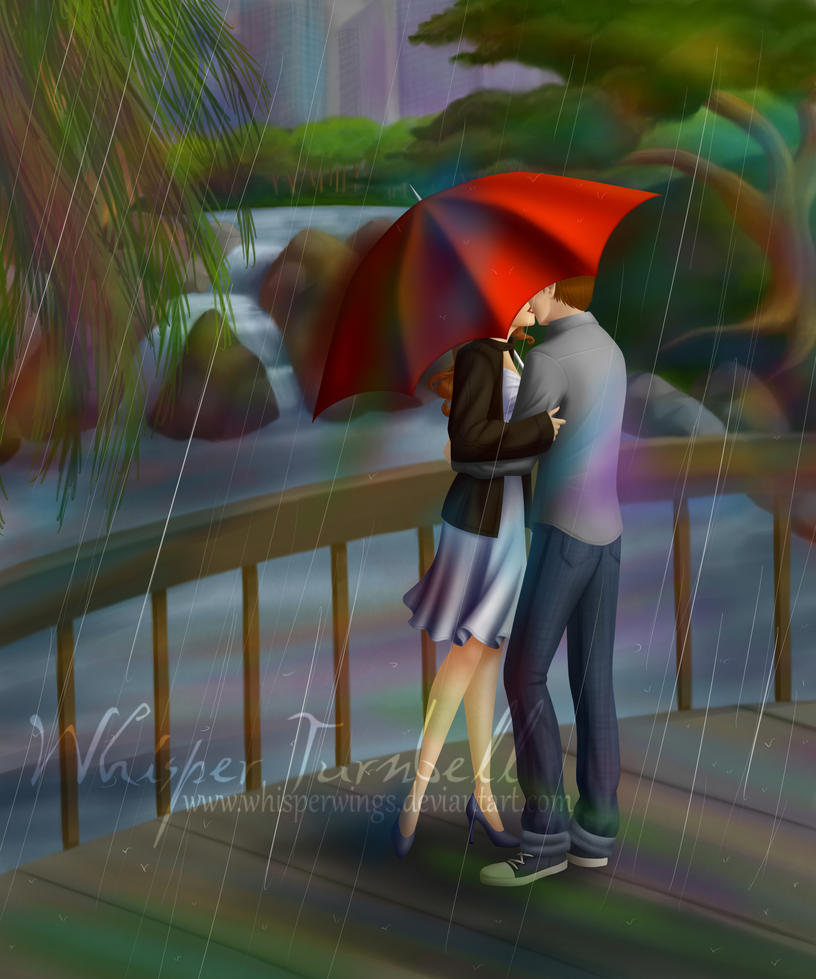 The red umbrella by whisperwings on deviantart for Painting red umbrella