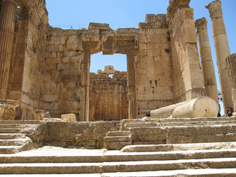 Temple of Bacchus, Baalbek -3 by LloydG