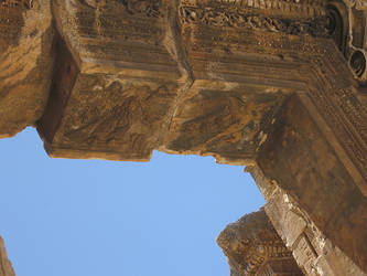 Temple of Bacchus, Baalbek -4 by LloydG