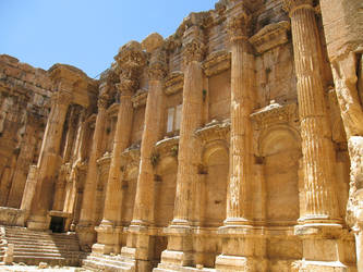 Temple of Bacchus, Baalbek -5 by LloydG