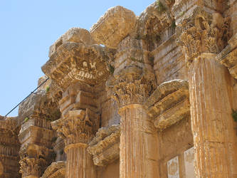 Temple of Bacchus, Baalbek -6 by LloydG