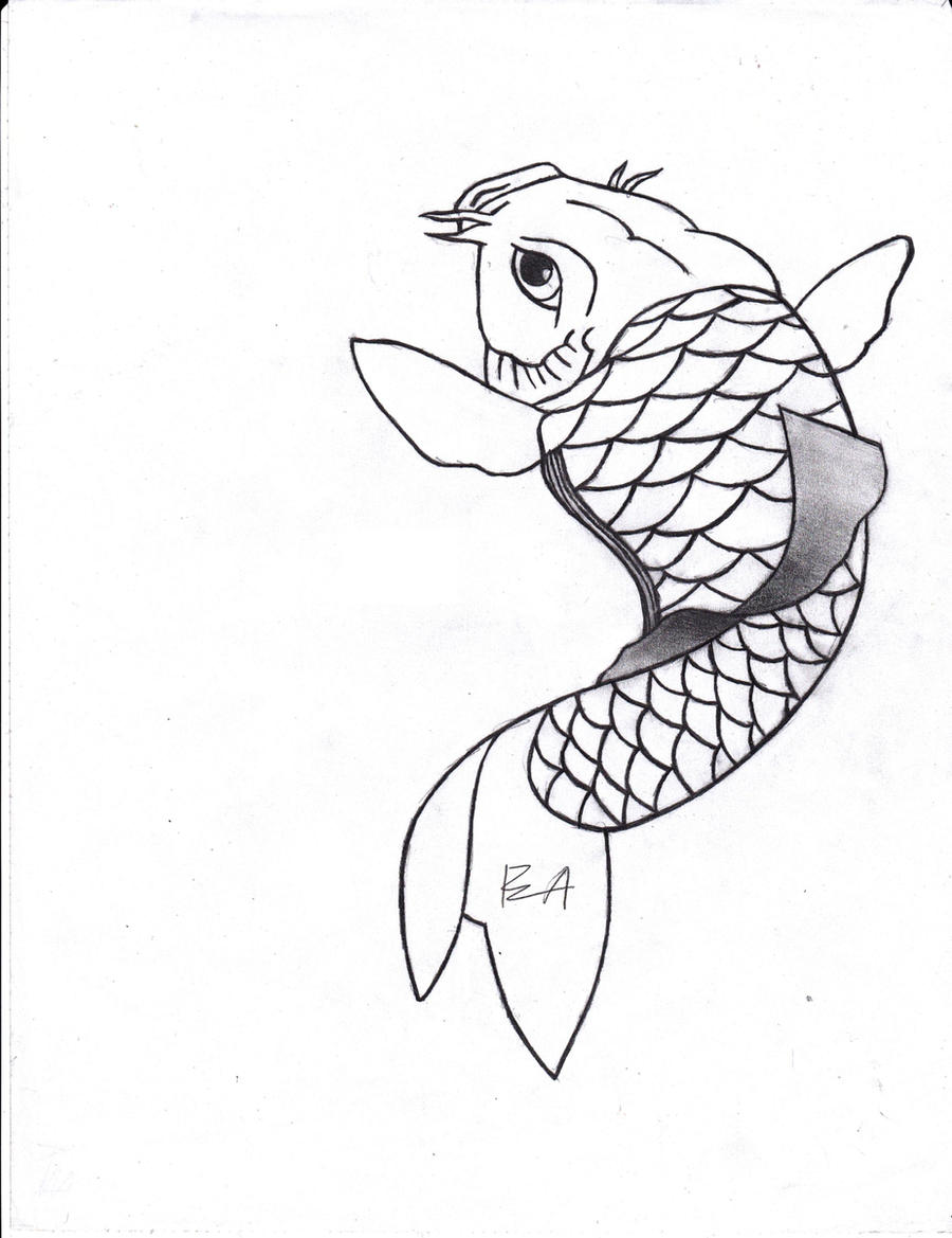 Koi fish by angellore69 on deviantart for Black and white koi fish