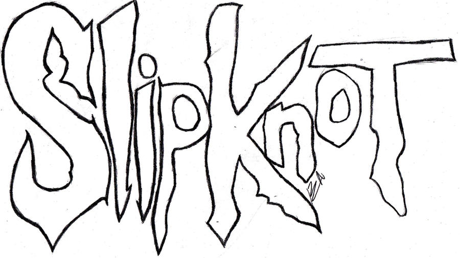 how to draw slipknot logo
