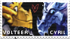 TLOS stamp - Volteer and Cyril by Larzu