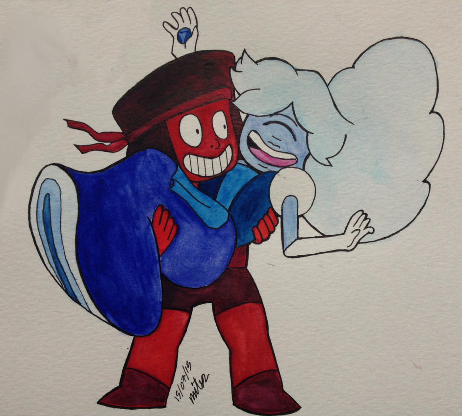 Ruby and sapphire su afternoon by mitx2 on deviantart - Ruby and sapphire su ...