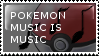 Pokemon Music Stamp by flarefugikage