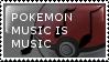 Pokemon Music Stamp by flarefugikage