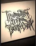 Calligraphy / on Russian language