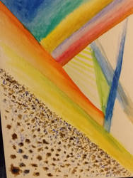 abstract watercolour space