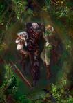 Brokilon - Ciri, Geralt and dryad Braenn