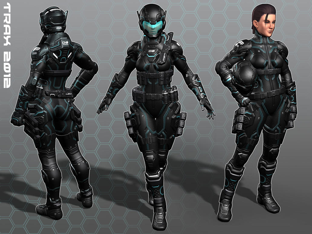 Female Soldier Tron Colors By Taxer Jinn On DeviantArt