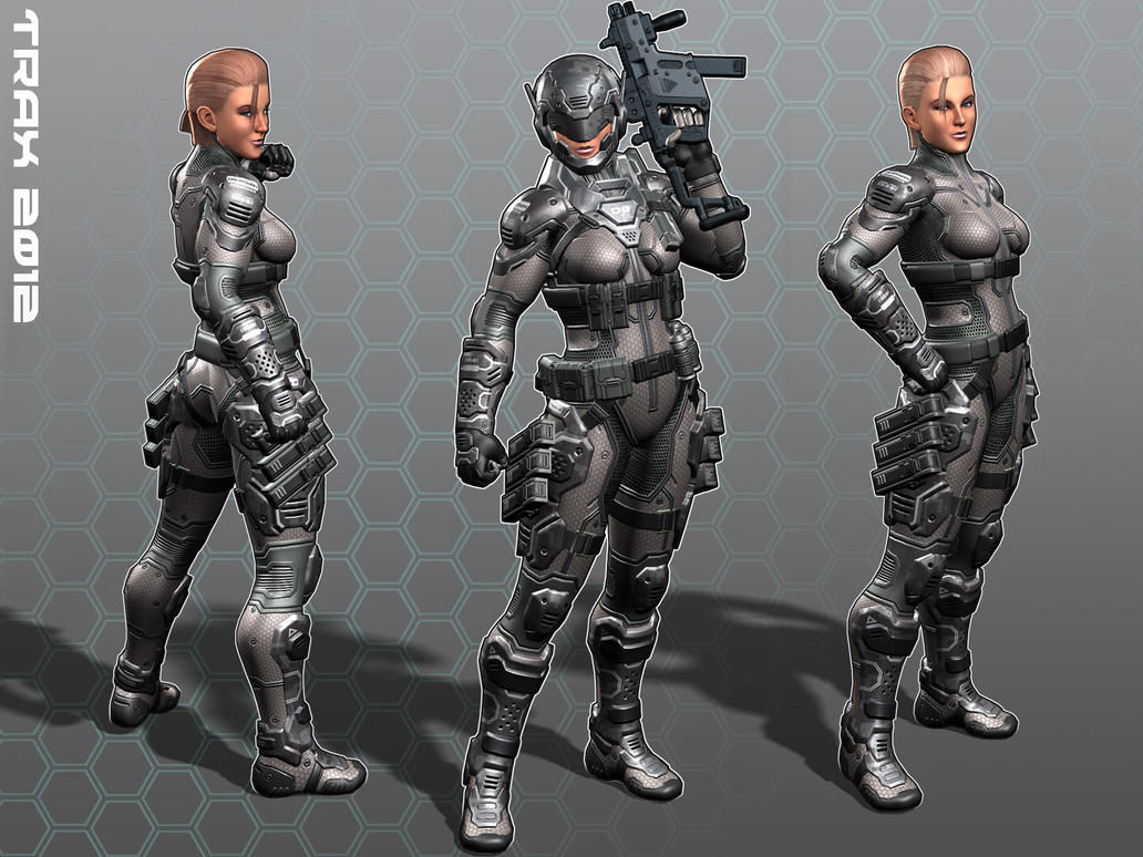 Female Soldier: Camo Colors by Taxer-Jinn
