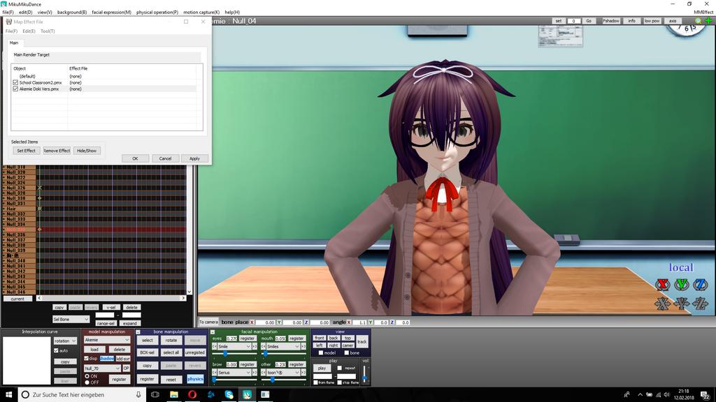 Akemie // MMD // Doki Doki Literature Club Model / by Mikusaki-sama
