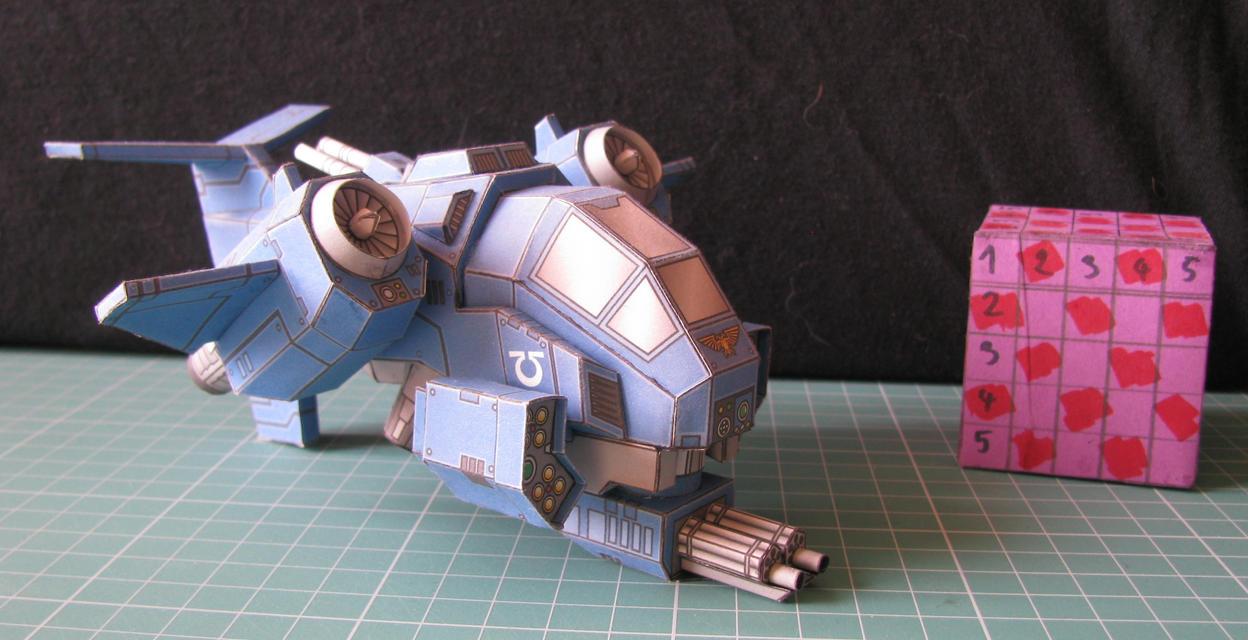 Warhammer - Space Marine Stormtalon - Papercraft by kotlesiu
