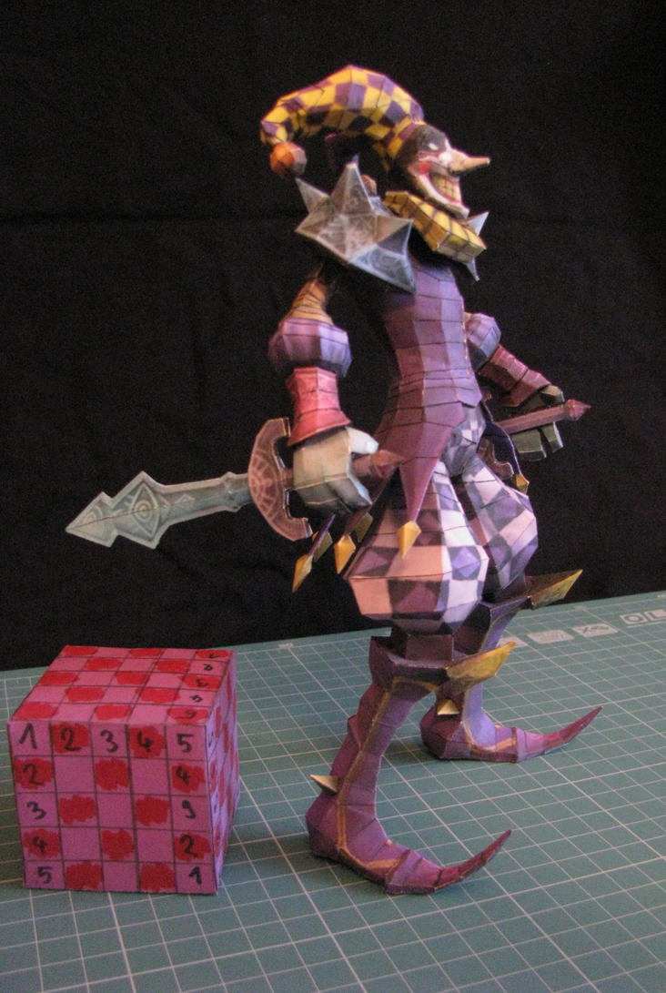 League of Legends - Royal Shaco - papercraft by kotlesiu