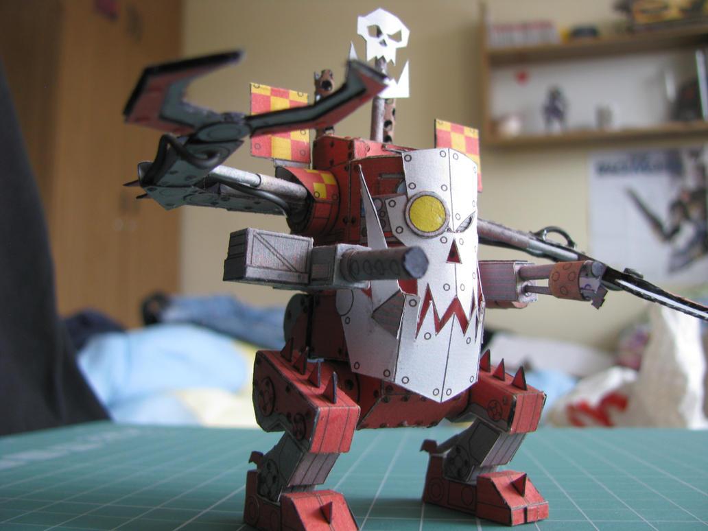 Deff Dread - Warhammer 40K - papercraft by kotlesiu