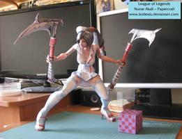 League of Legends - Nurse Akali Papercraft by kotlesiu