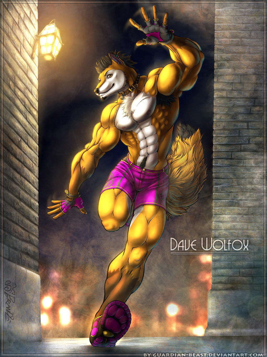 Dave Wolfox for Wolfan-foxD by Guardian-Beast by Guardian-Beast