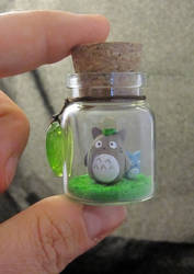 My Neighbor Totoro Bottle Art