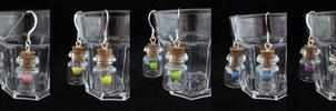 Fairy Bottle Earrings Colors 2 by egyptianruin