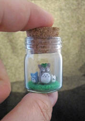 Tinier Totoro Bottle by egyptianruin